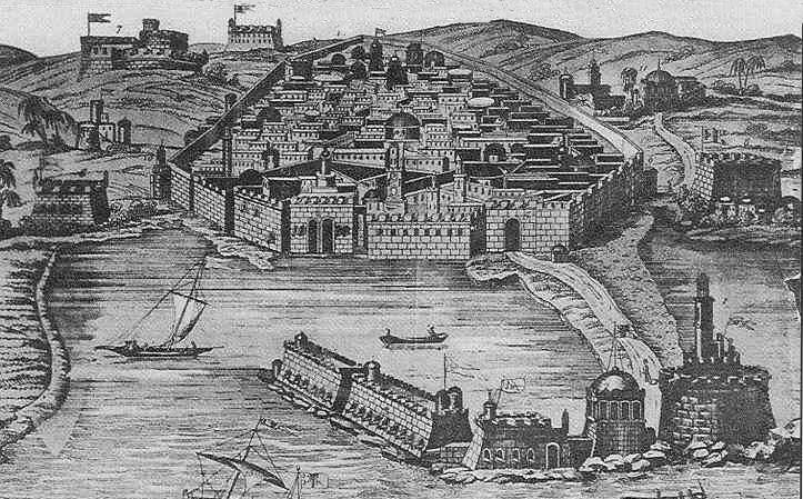 Vue de la ville et de la darse en 1530